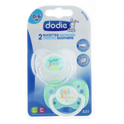 Dodie Sucette Anatomique Silicone 0-6 Mois N°31